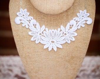 Floral Lace Necklace (The Emma Necklace)