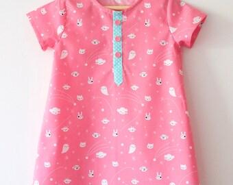 Girls dress pattern. Little Camper Dress. Sewing PDF dress pattern.