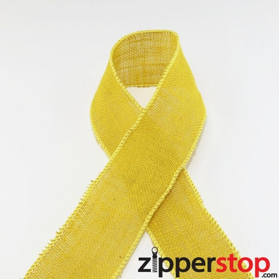 Yellow wired burlap ribbon great for crafts wreaths for Burlap ribbon craft ideas