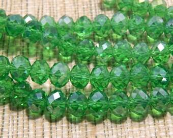 8mm Green AB Crystal Swarovski Type Glass Beads for Necklace Bracelet Pendant Earrings