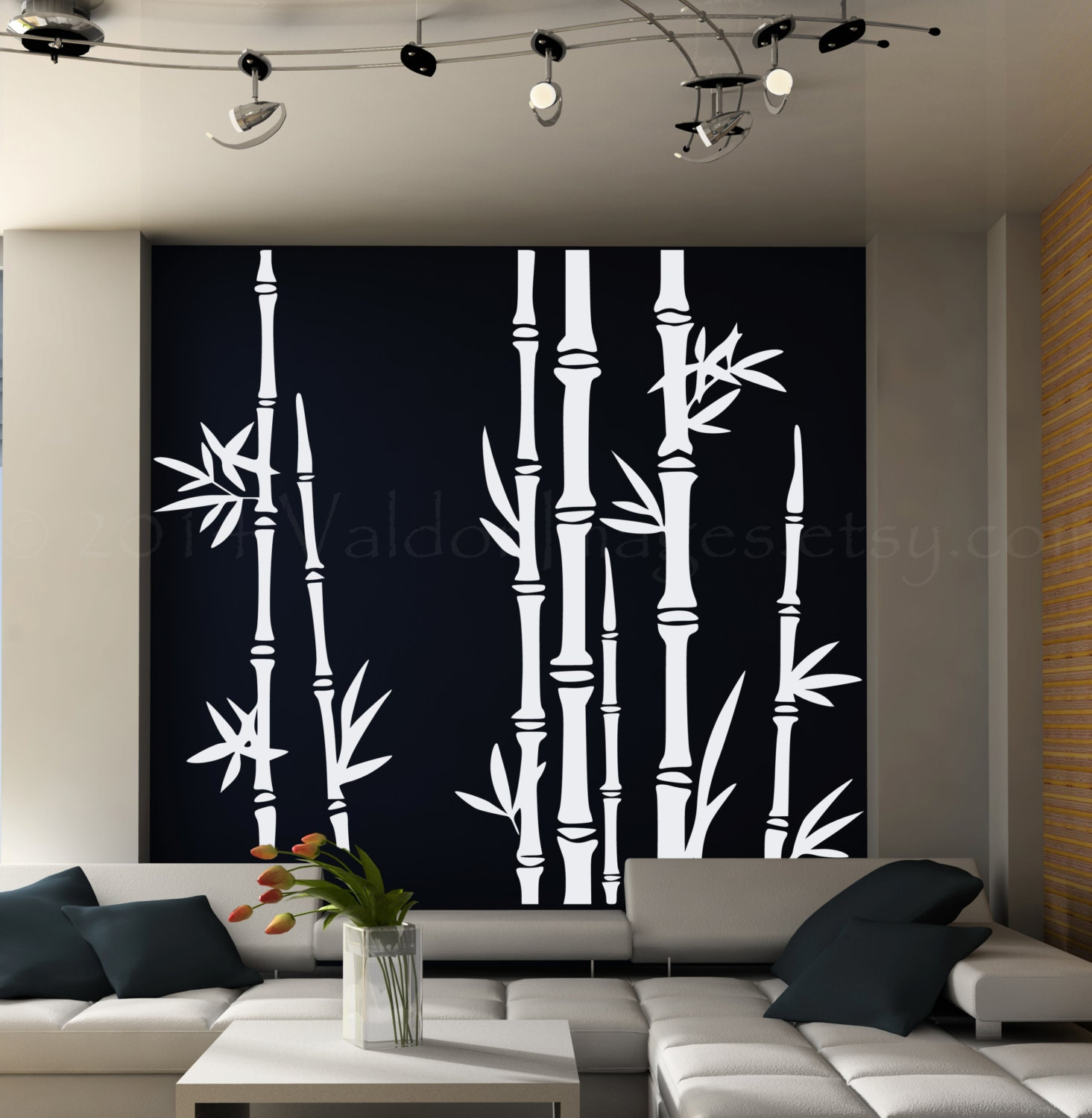 Bedroom wall art trees -  Zoom