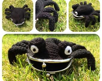 Spider Coin Purse Crochet Pattern