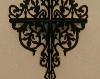 Metal Victorian Scrollwork Corner Shelf