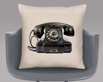 Old Telephone Cushion Cover