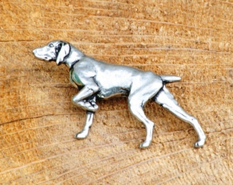 German Shorthaired Pointer Pin Brooch Badge Pewter Gift