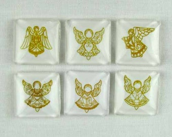 Set of Six Magnets Angels in Tin Gift Box