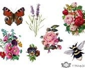 English Country Garden Wickedly Lovely Skin Art Temporary Tattoos (includes 7 tattoos)