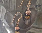 ON SALE 15% Smoke and Mirrors - Handmade Gold Earrings