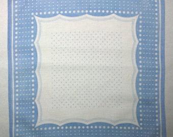 Vintage Pale Blue Square Handkerchief