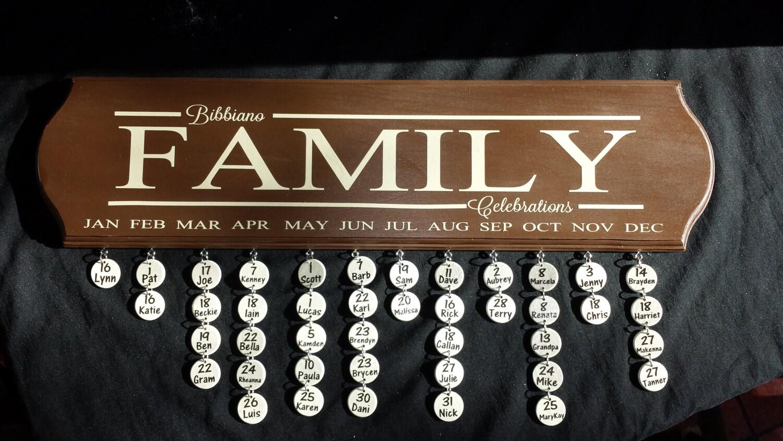 Family Celebrations Plaque Family Celebrations Sign