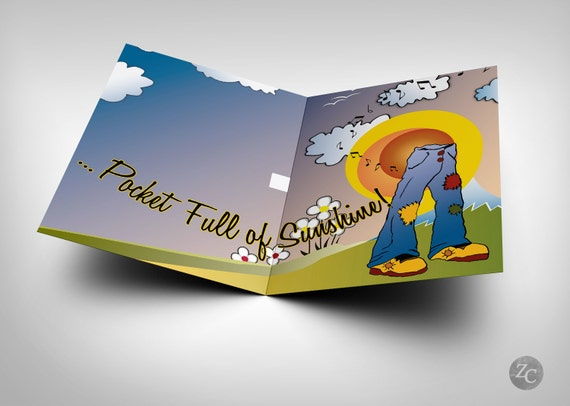 Birthday card with pocketful of sunshine song