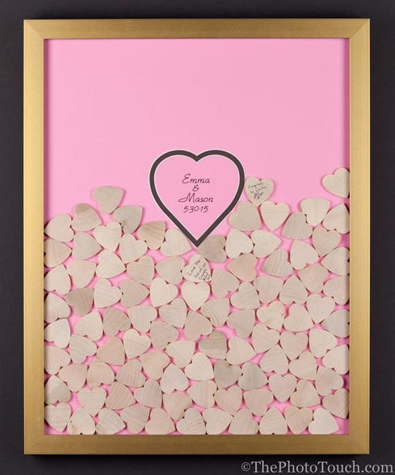 Wedding Guest Book Frame With Wooden Or Color By WeddingGuestbook