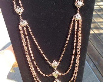 Vintage inspired copper necklace