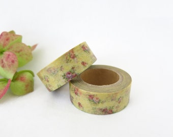 Floral Washi Tape / Decorative Washi Paper Masking Tape  WT008