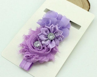 Chiffon Flower With Rhinestone Headband,Baby Headband, Infant Headband