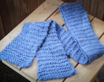 Soft Hand Knit Scarf in Baby Alpaca