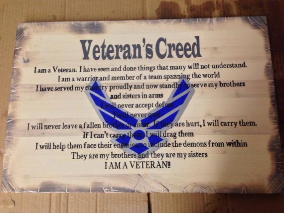 Veteran's Creed Sign