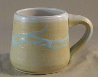 Mug - white and turquiose
