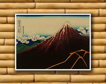 Japanese Decor Asian Landscape Poster Art Print Japan Retro (J73)