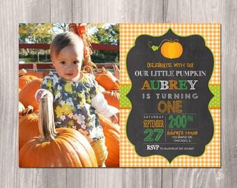 Fall Birthday Invitation - Pumpkin Birthday Invitation - Printable Fall Invitation - Printable Pumpkin Invitation - Pumpkin Fall Birthday