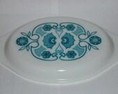 Vintage Pyrex Horizon Blue Opal Glass Casserole Lid (945-C)