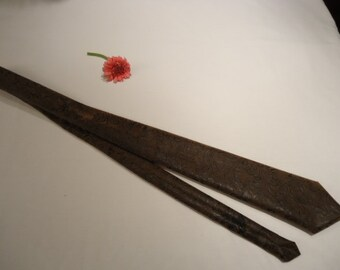 Neck tie,  hand sewn