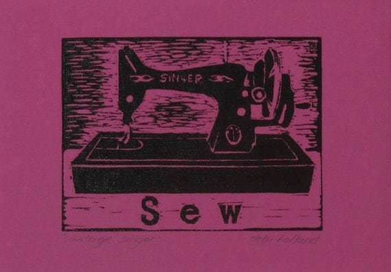 Items similar to Vintage Singer Sewing Machine Original ...