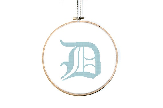 Items Similar To Letter D Cross Stitch Pattern