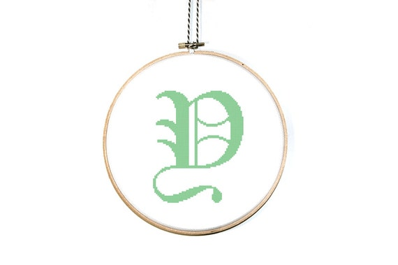 Items Similar To Letter Y Cross Stitch Pattern