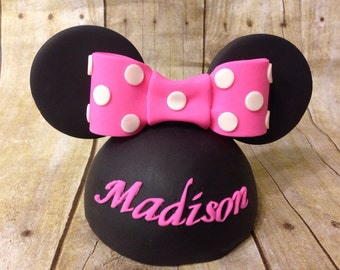 Mini Fondant Minnie Mouse Inspired Cake Topper
