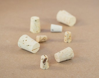 Small Corks - Natural Mini Cork Stoppers -  FREE SHIPPING