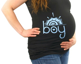 Boy Sun Maternity T-Shirt Clothes Top - side print  - Made From Bamboo - SUPER SOFT & Stretchy