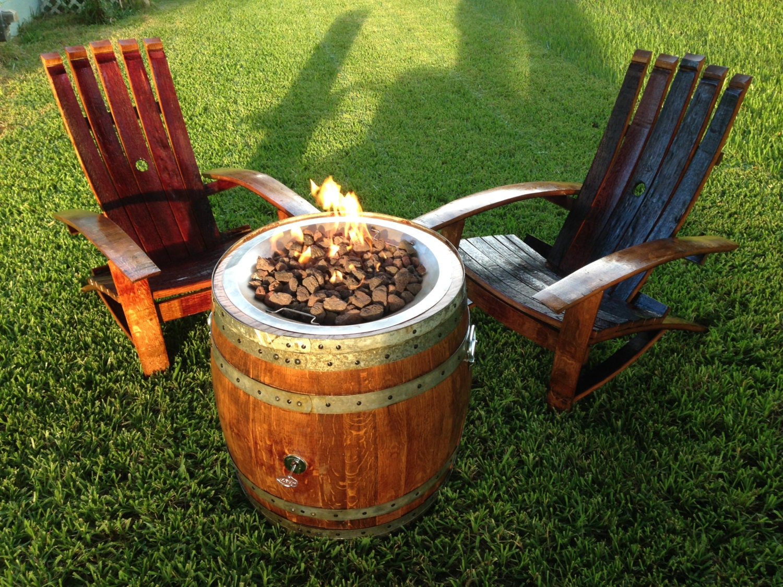 Portable Wine Barrel Fire Pit
