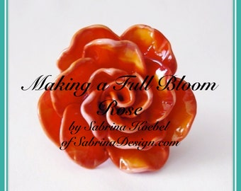 How to make a Full Bloom Rose by Sabrina Koebel of SabrinaDesign Handmade Lampwork Beads Lampwork Tutorial