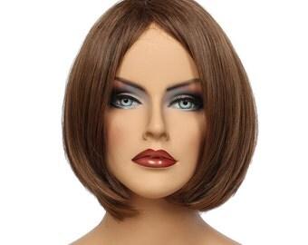Classic Cap women Synthetic straight Short Medium Brown full wig HengFeng ZP16   SKU: 10C52