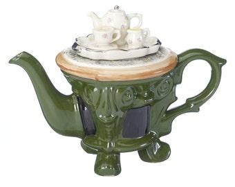 The 'Tea In The Garden ' Full Size Teapot