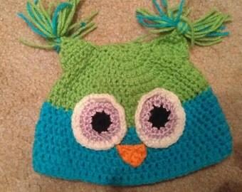 Crochet Owl Hat, Owl Hat, Crochet Owl Beanie, Zoo Hat, Zoo Beanie