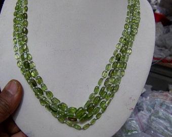 4 Strands  Perridote  Natural Round Beads 15''