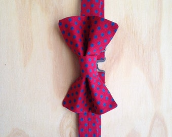 Red with blue dots bowtie