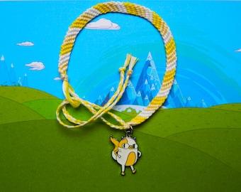 Adventure Time friendship bracelet with Cake charm Free UK Postage!