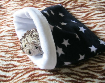 Black Starry Fleece Snuggle Sack for Hedgehogs/Rats/Guinea Pigs/Rabbits/Sugar Gliders