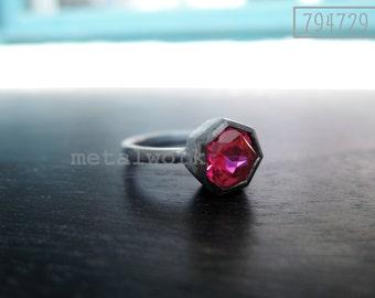MW R1010 Sterling Silver Ruby Ring