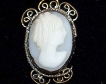 Vintage Hand Carved Shell Cameo Loose Finding