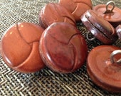 """Vintage 1"""" Leather Woven Buttons NEW"""