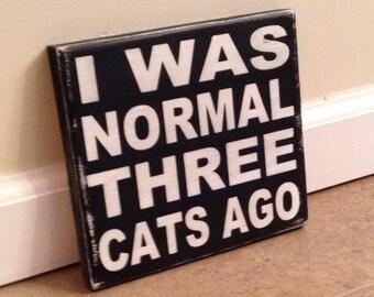 Crazy Cat Lady Sign - wood wall art