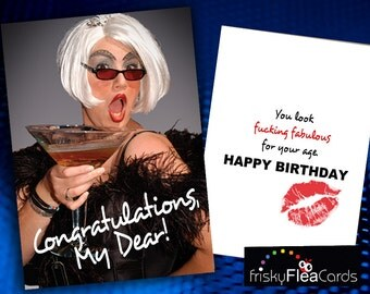 Gay Naughty Drag Queen Birthday Card Jpg 340x270