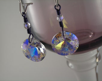 Crystal AB Swarovski Crystal Dangle Earrings