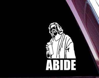 Lebowski - ABIDE (A-0076) - Die Cut Decal Sticker Not Printed