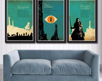 The Lord of the Rings Trilogy poster set
