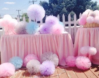 Set   6  Tulle pom pom Party Decoration